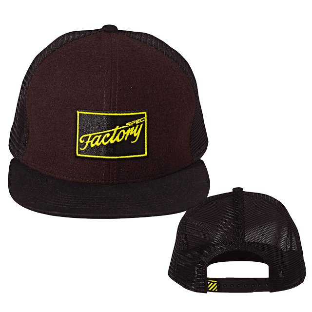 FOCUS FACTORY SPEC CAP PACK OF 5 EARTH BROWN MÉLANGE/ FLUO YELLOW