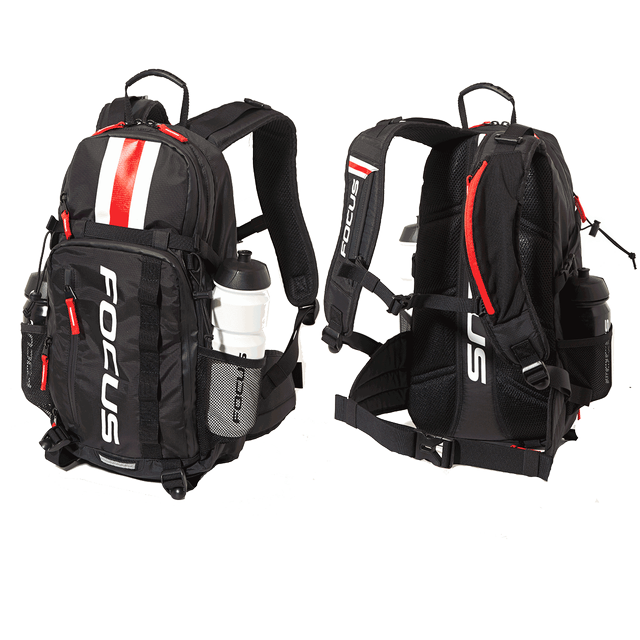 FOCUS TOURING BACKPACK 16L BLACK/ WHITE/ RED
