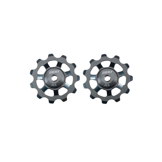 der.pulleys AluBoys 11T ceramic gray anodized