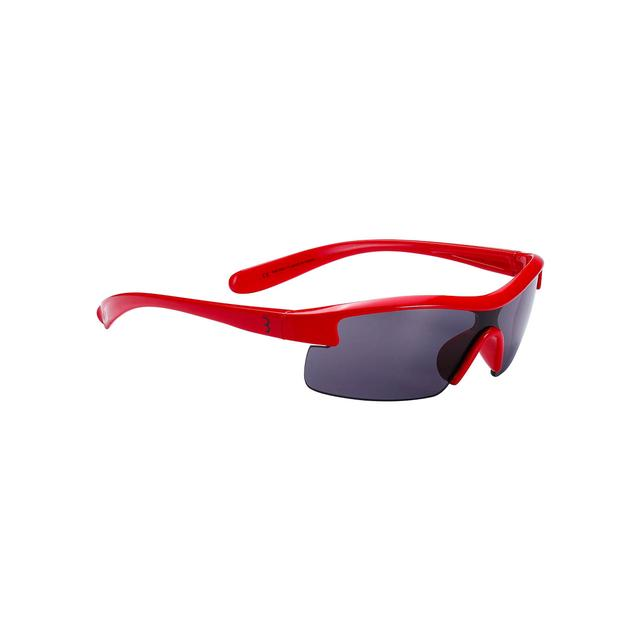 sunglasses Kids PC smoke lens glossy red