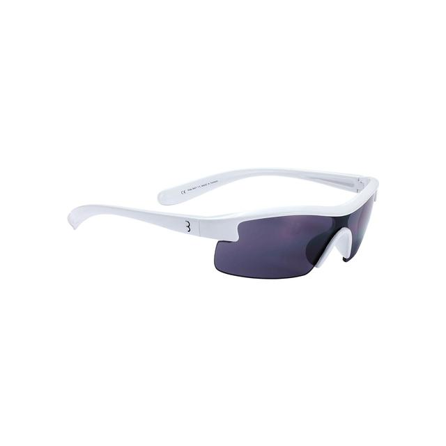 sunglasses Kids PC smoke lens glossy white