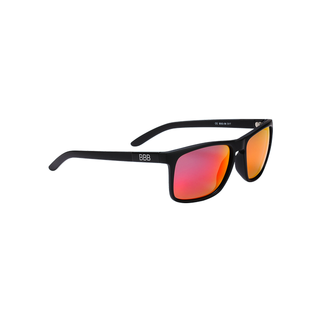 sunglasses Town PZ PC MLC red polarised lenses matt black