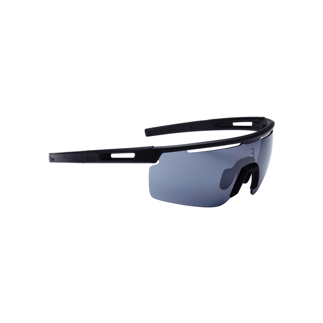 sunglasses Avenger, black temple tips, PC smoke flash mirror lens matt black