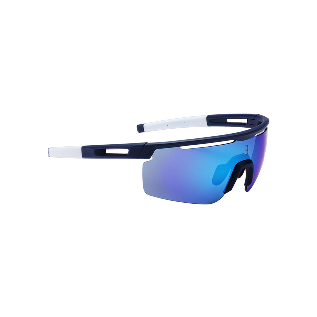 sunglasses Avenger, white temple tips, PC smoke MLC blue lens matt dark blue