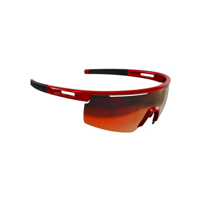 sunglasses Avenger, black temple tips, PC smoke MLC red lens glossy red metallic