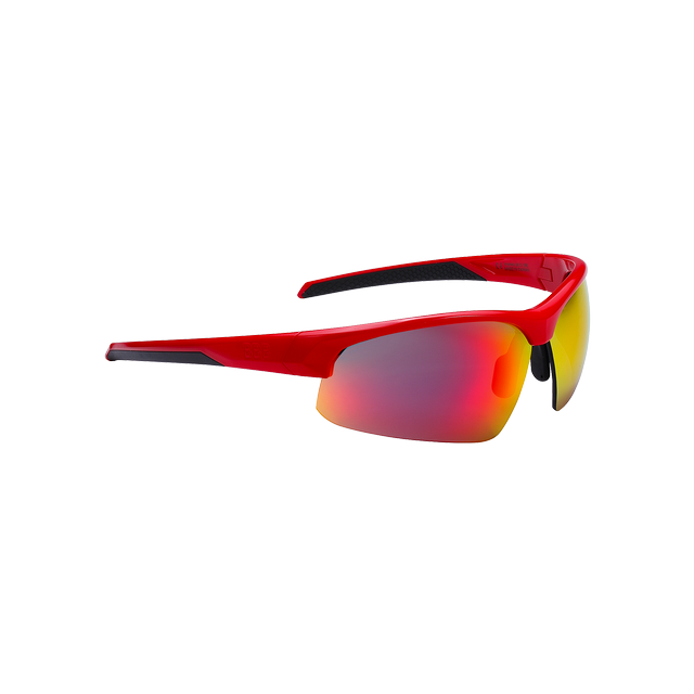sunglasses Impress, PC smoke red lenses glossy red