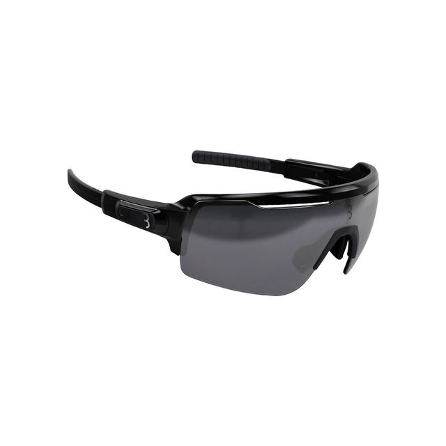 sunglasses Commander PC Smoke MLC silver lens glossy black