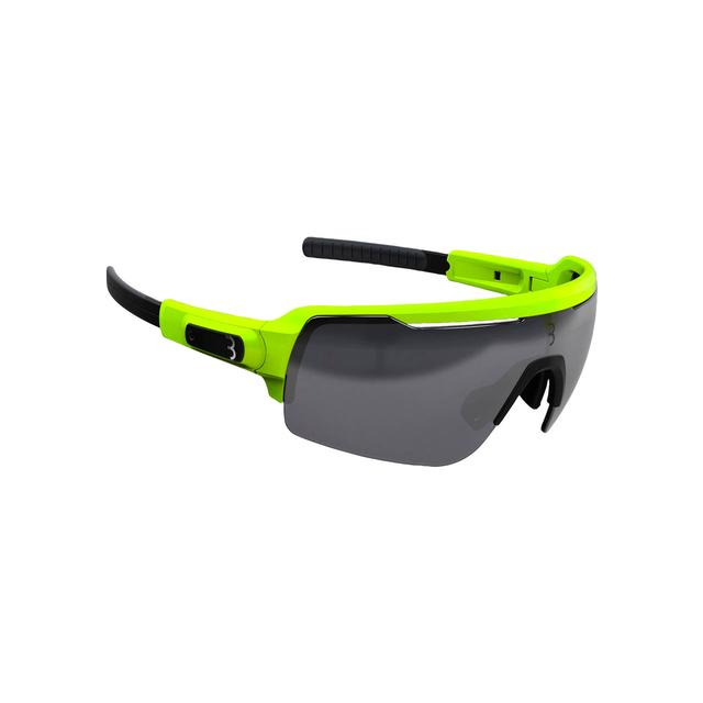 sunglasses Commander PC Smoke MLC silver lens matt neon yellow