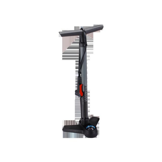 floorpump AirBoost steel dualhead 3.0 gray