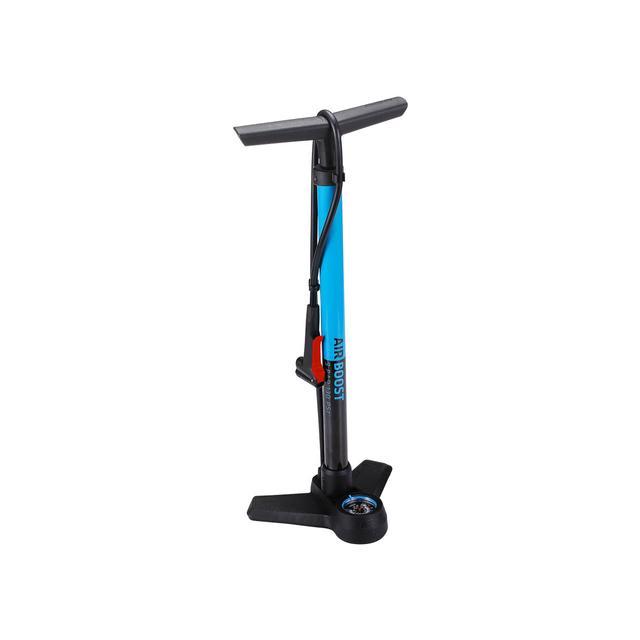 floorpump AirBoost steel dualhead 3.0 blue