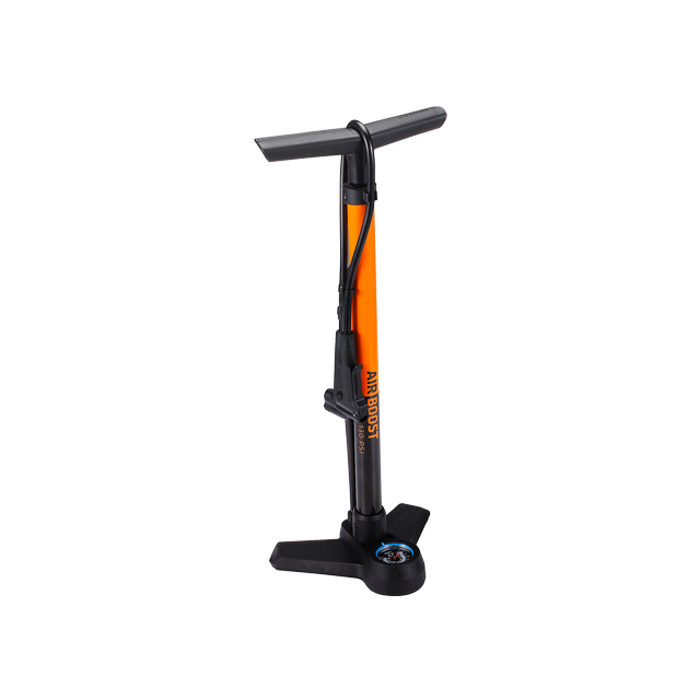 floorpump AirBoost steel dualhead 3.0 orange