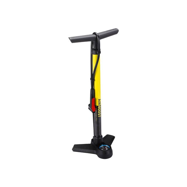 floorpump AirBoost steel dualhead 3.0 yellow