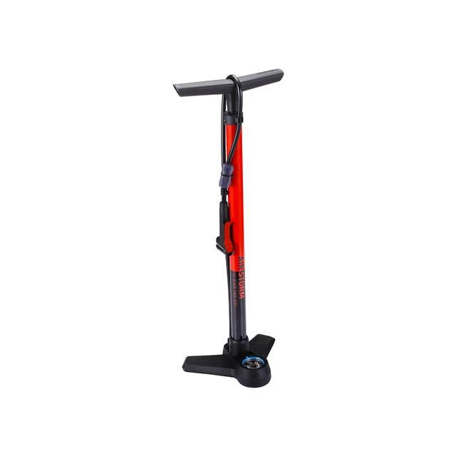 floorpump AirStrom steel dualhead 3.0 red