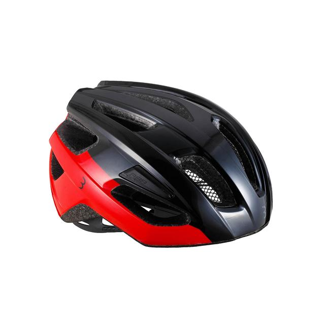 helmet Kite glossy black red