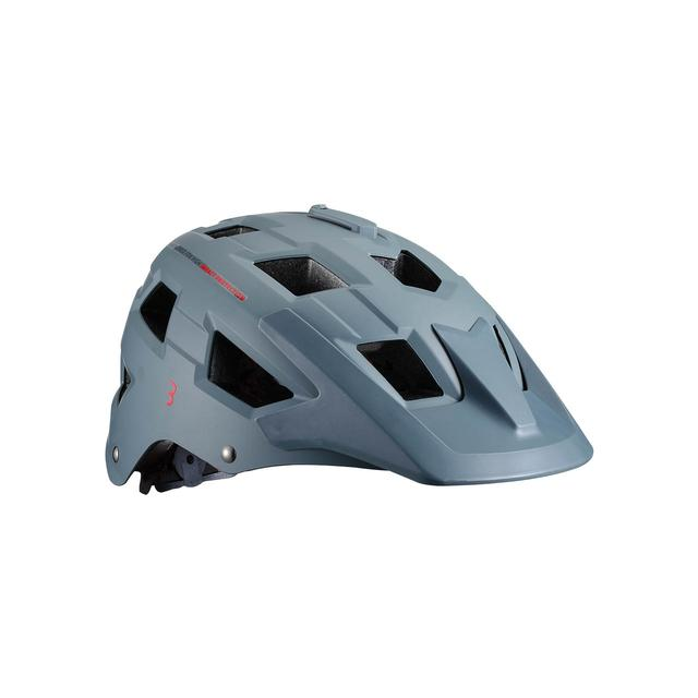 helmet Nanga matt gray red