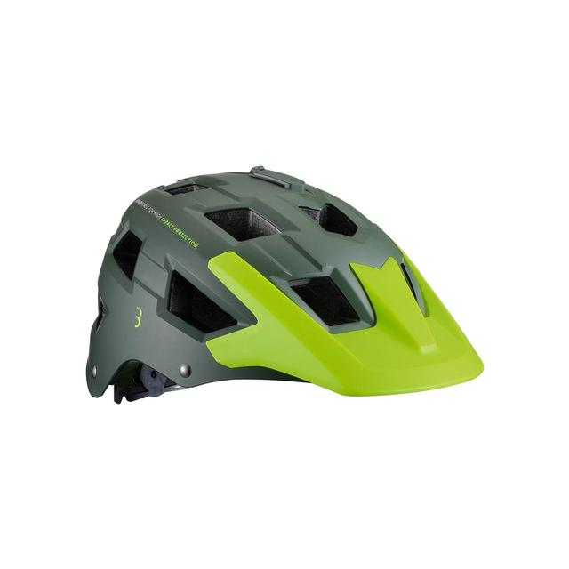 helmet Nanga matt green neon yellow