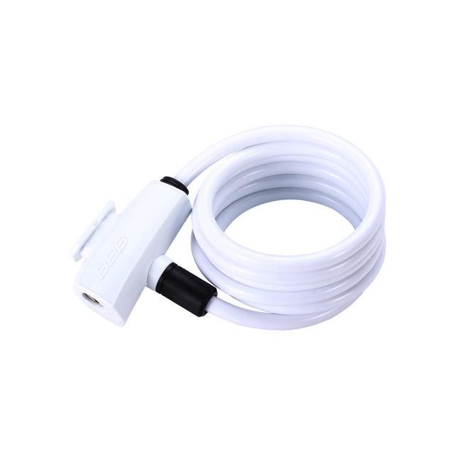 bicyclelock QuickSafe coil cable white